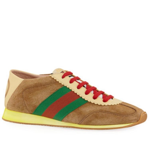 Gucci Suede Fold Down Rocket Sneakers